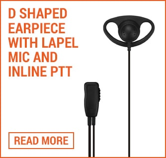 d shape earpiece with ptt