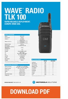 motorola wave tlk100 spec sheet download